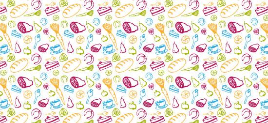 Illustration von Christina Zwittag - Gemüse, Obst, Brot, Wurst